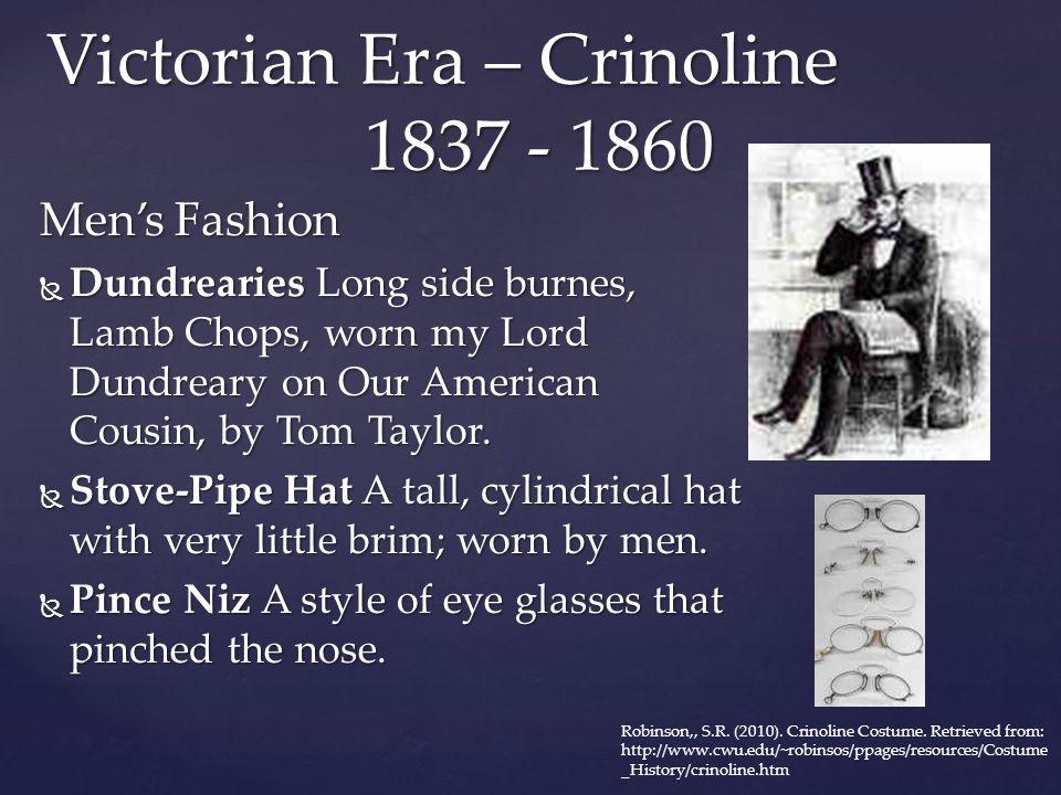 Victorian Era – Crinoline 1837 - 1860