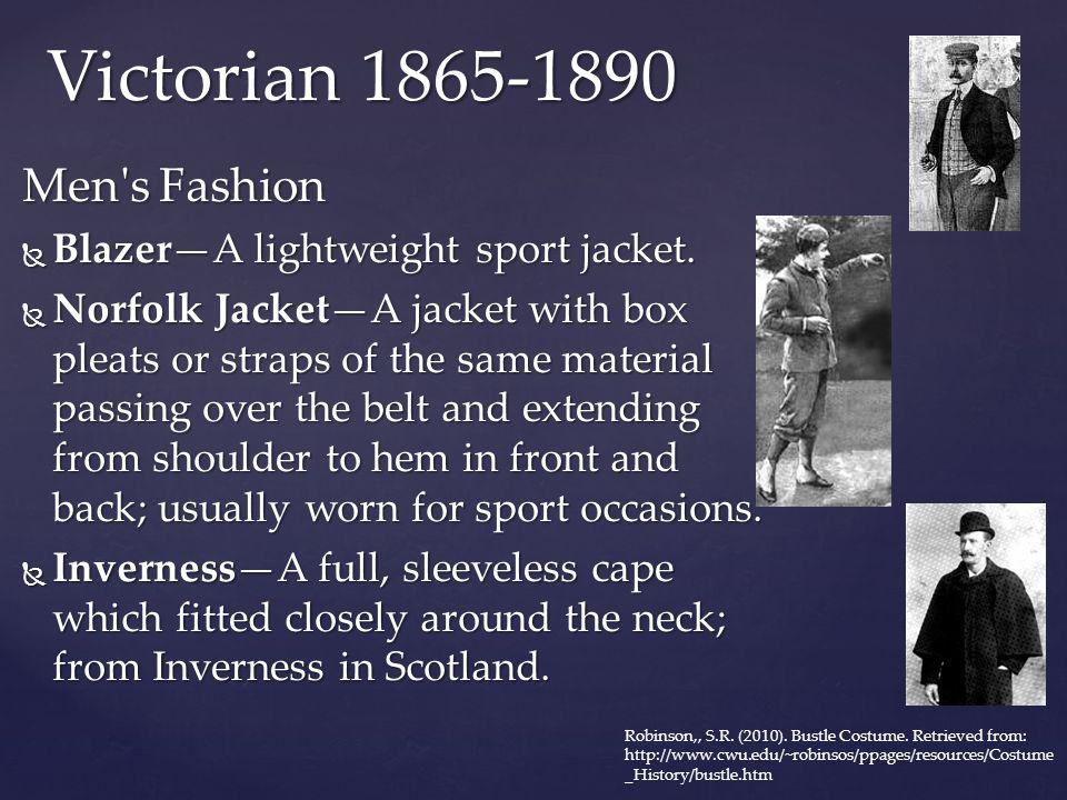 Victorian 1865-1890 Men s Fashion Blazer—A lightweight sport jacket.