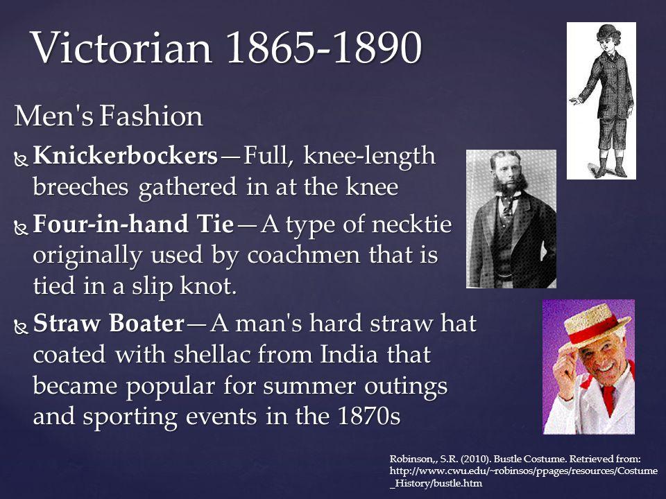 Victorian 1865-1890 Men s Fashion