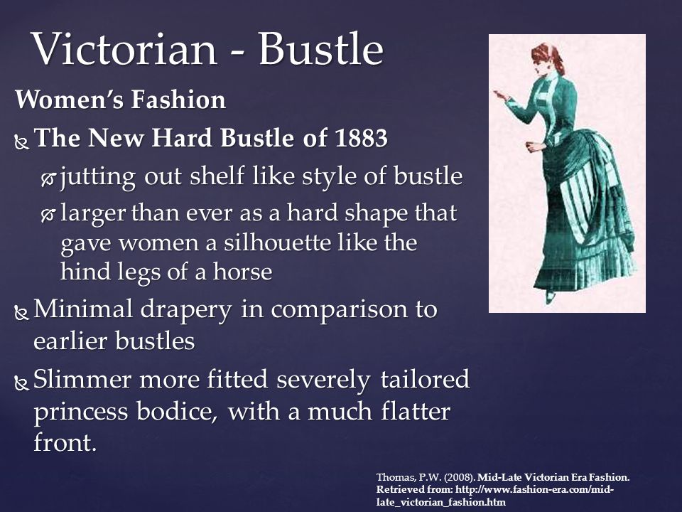 Victorian - Bustle Women's Fashion The New Hard Bustle of 1883