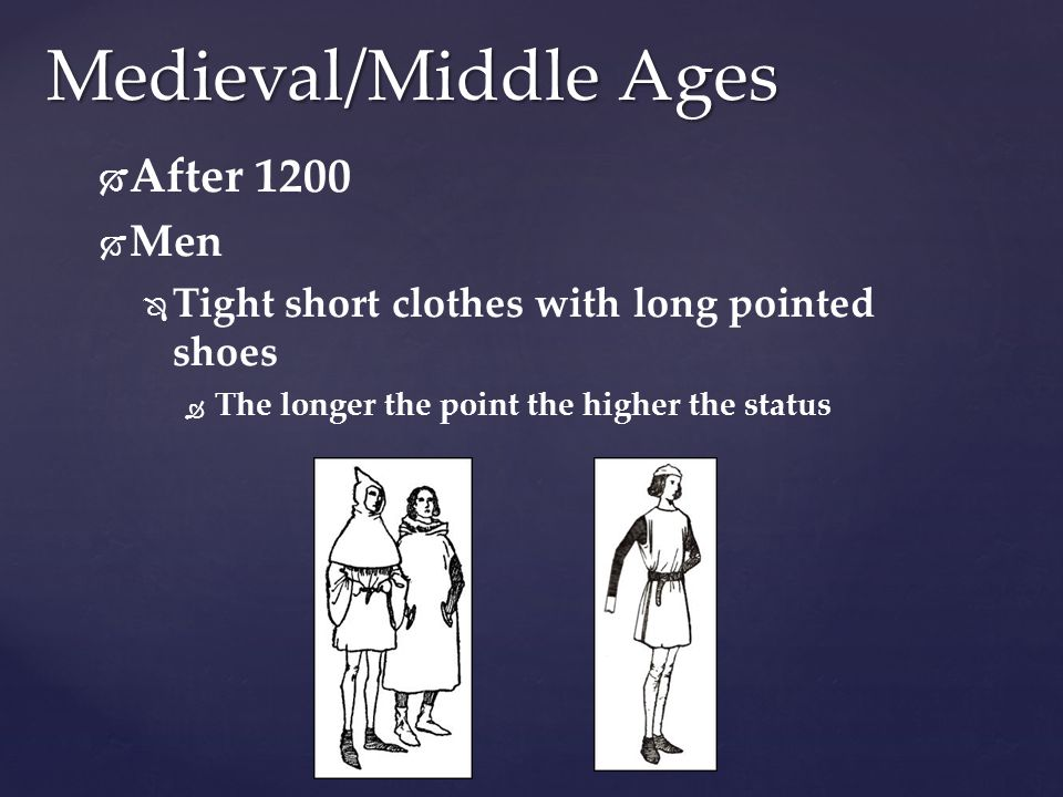 Medieval/Middle Ages After 1200 Men