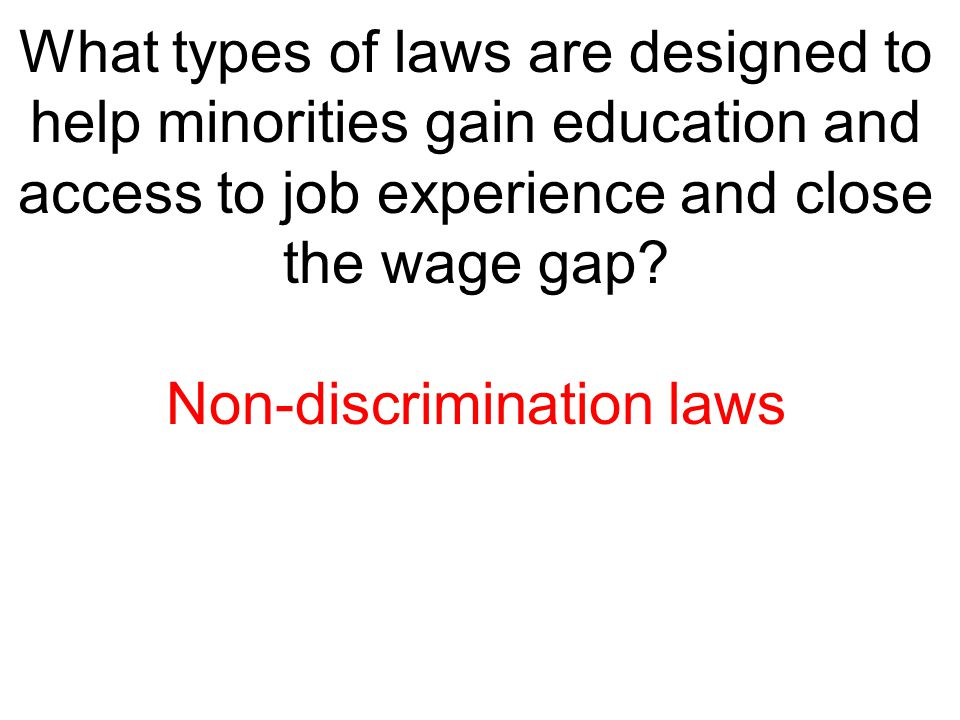 Non-discrimination laws
