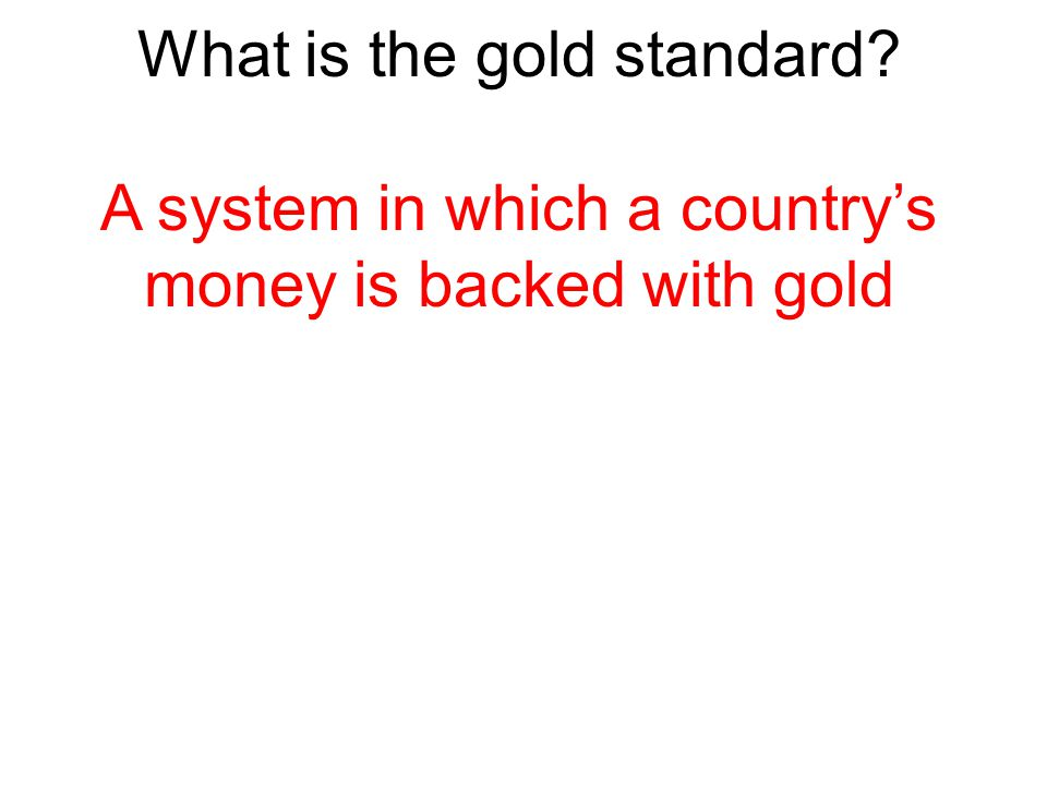 What is the gold standard