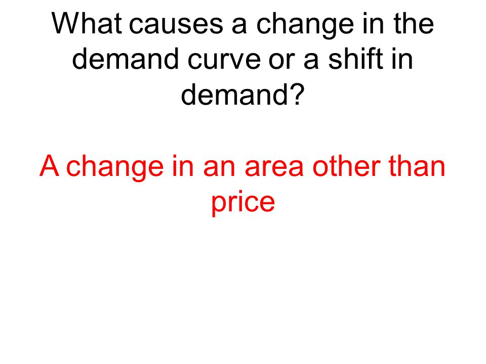 What causes a change in the demand curve or a shift in demand