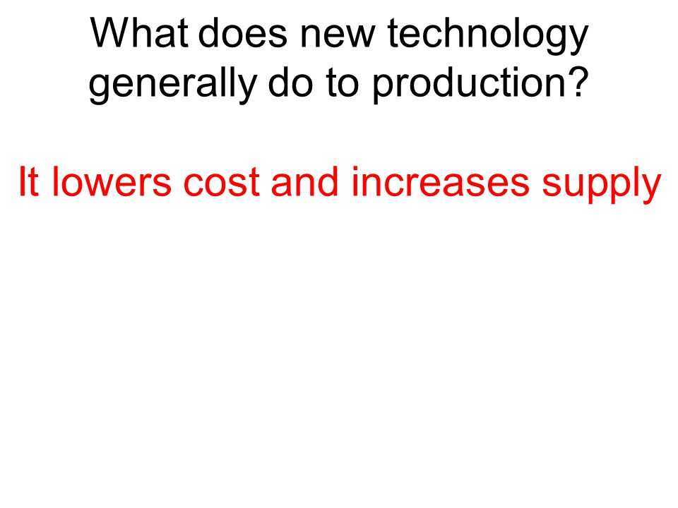 What does new technology generally do to production