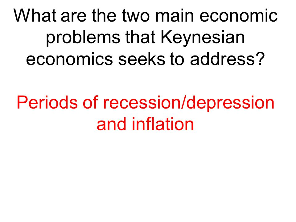 Periods of recession/depression and inflation