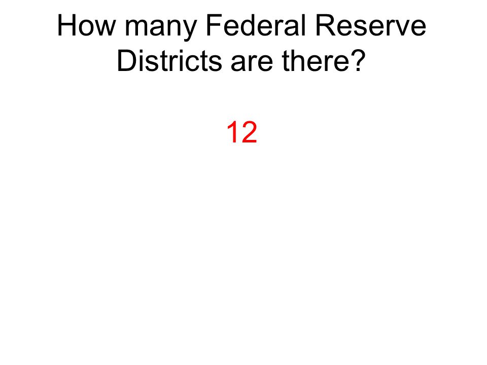 How many Federal Reserve Districts are there