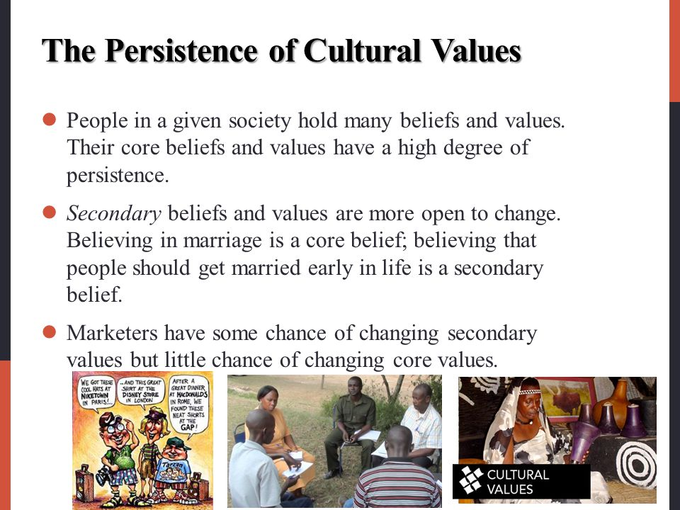 The Persistence of Cultural Values