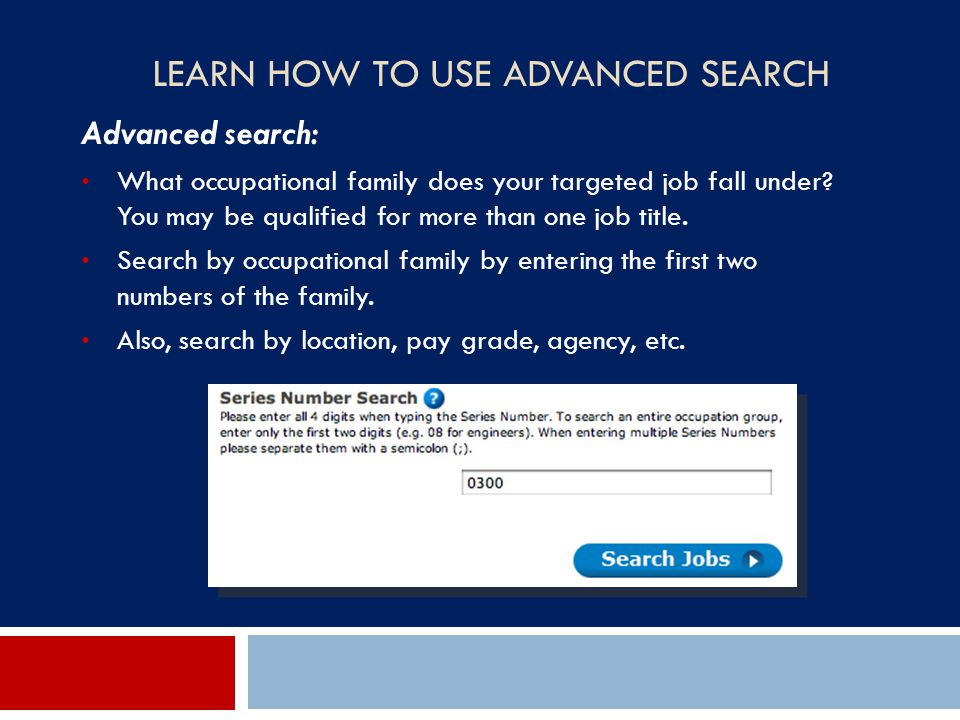 Learn How to use advanced Search