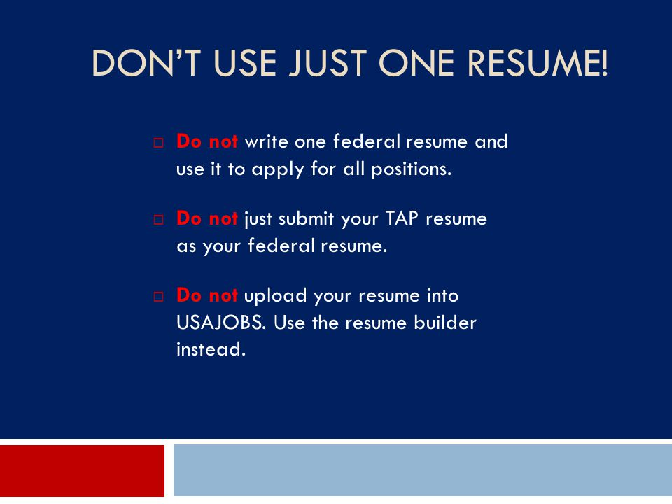 your pursuit for federal employment