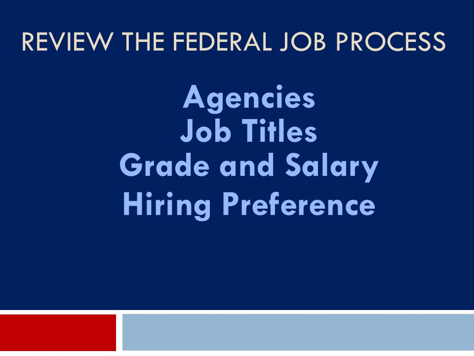 Review the Federal Job Process