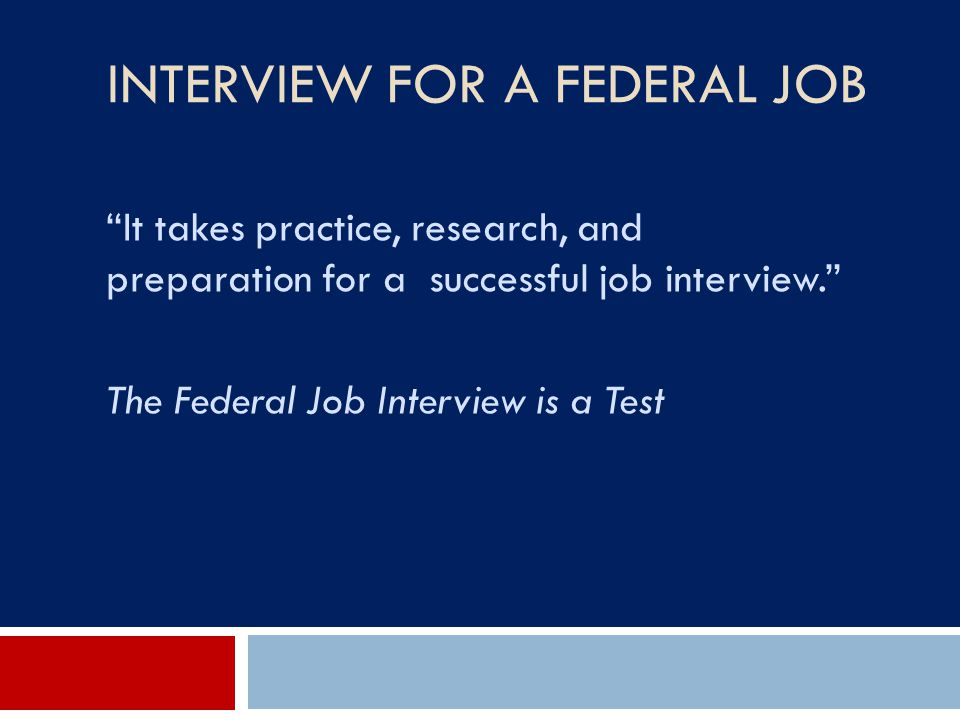 Interview for a Federal Job