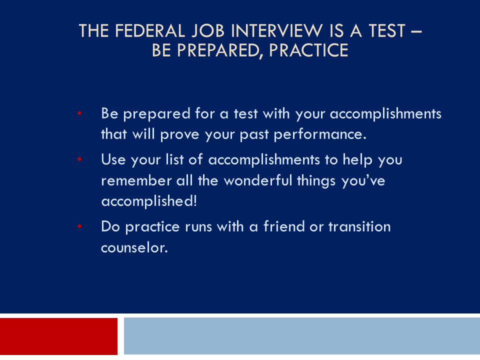 The Federal Job Interview Is a Test – Be Prepared, Practice