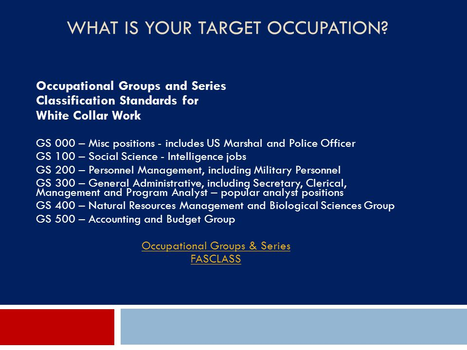 What IS Your Target Occupation