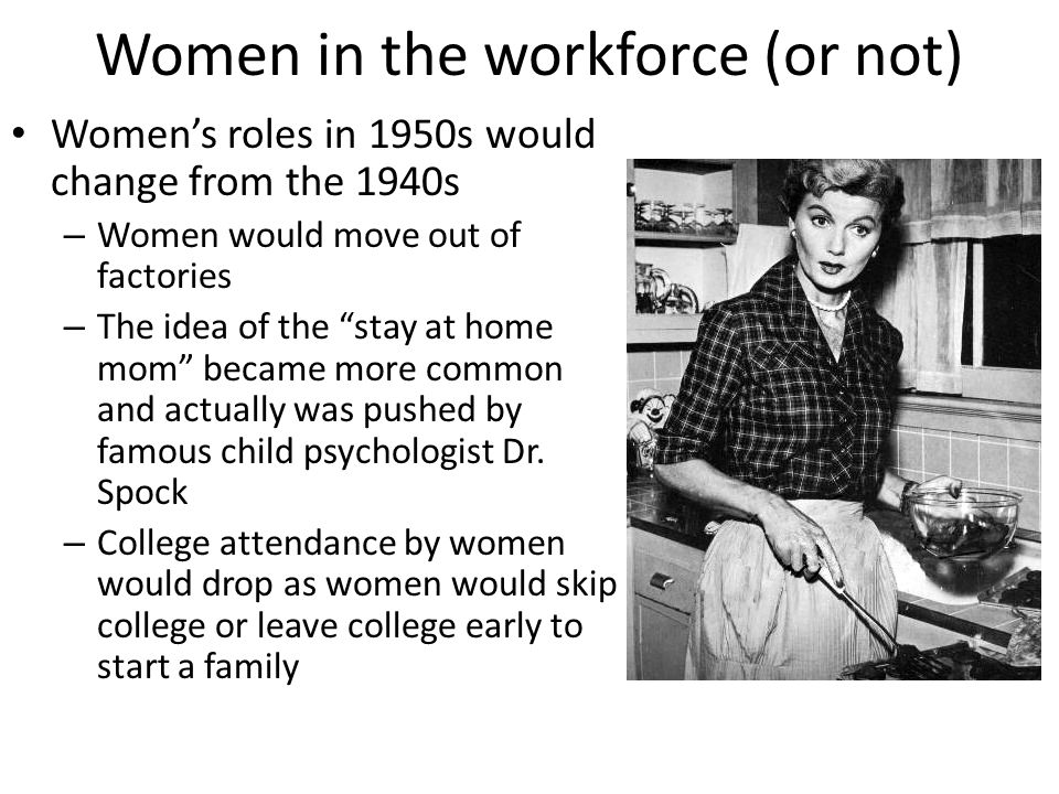 Women in the workforce (or not)