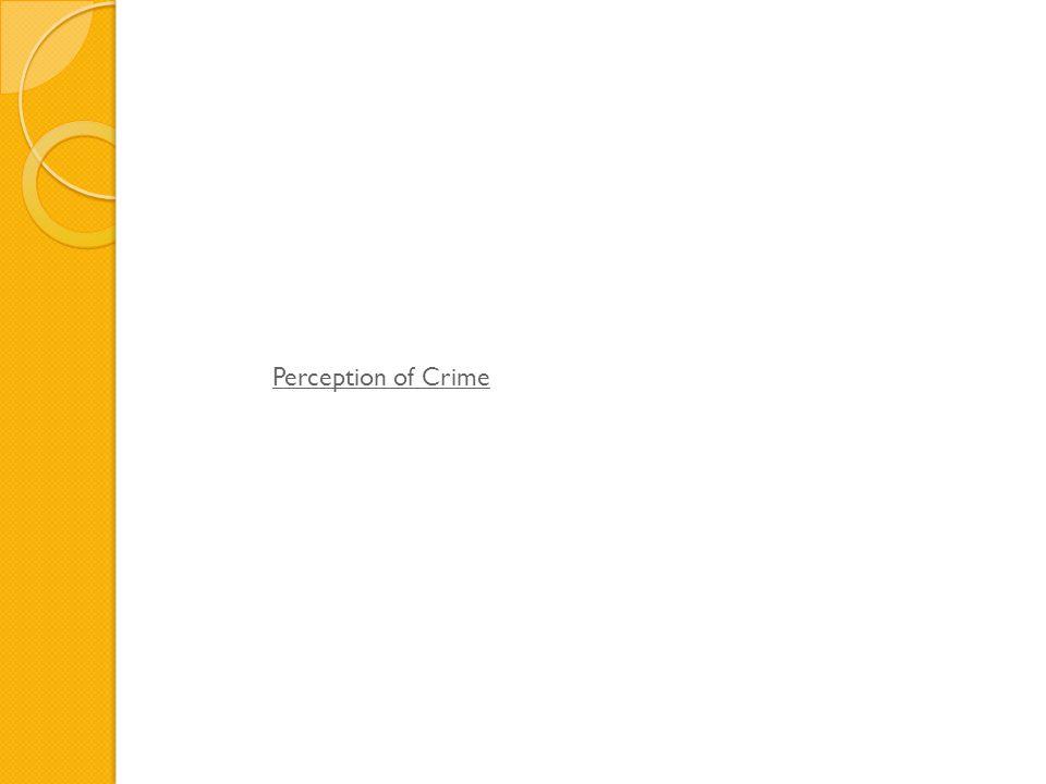 Perception of Crime
