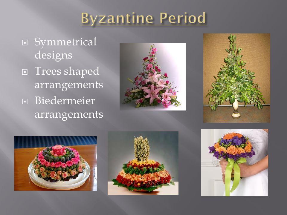 Byzantine Period Symmetrical designs Trees shaped arrangements