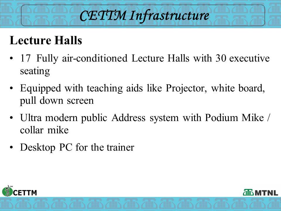 CETTM Infrastructure Lecture Halls