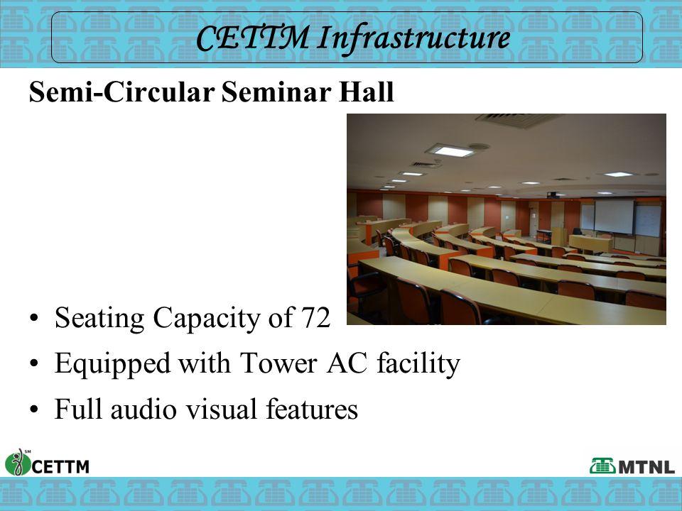 CETTM Infrastructure Semi-Circular Seminar Hall Seating Capacity of 72