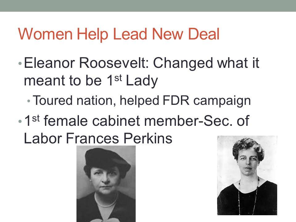Women Help Lead New Deal