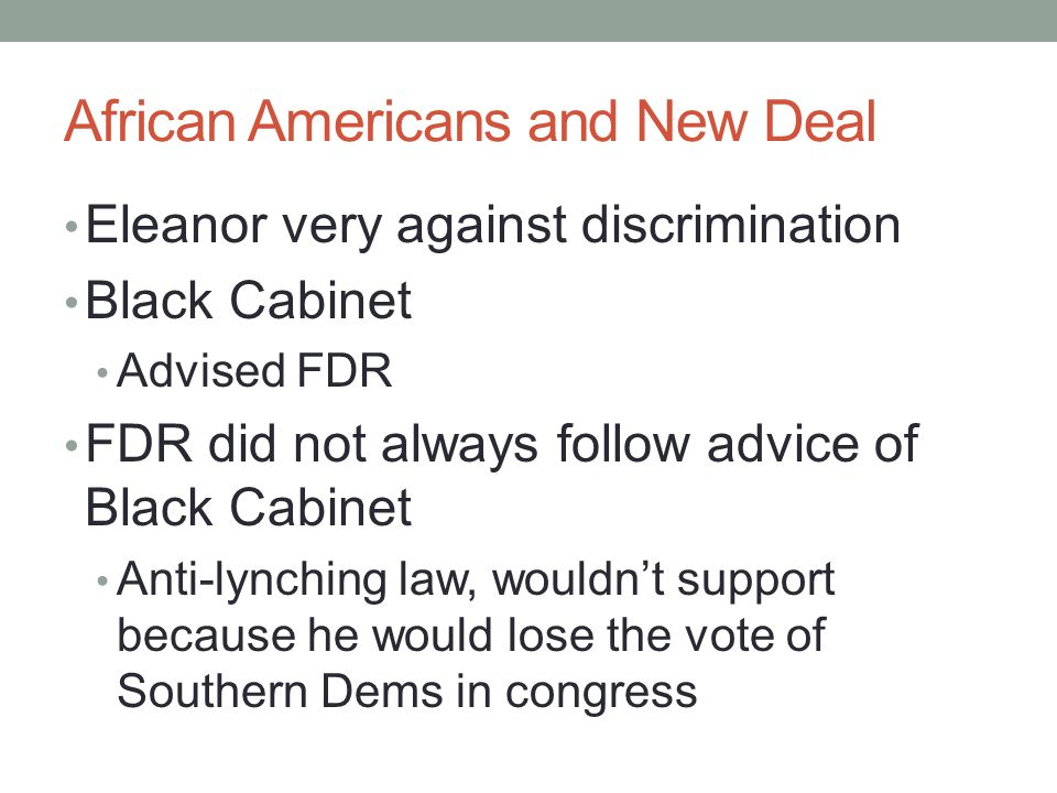 African Americans and New Deal