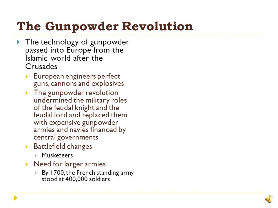 The Gunpowder Revolution