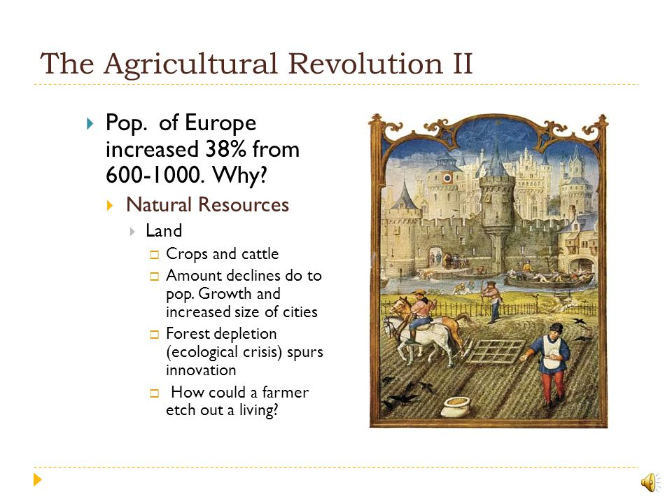 The Agricultural Revolution II