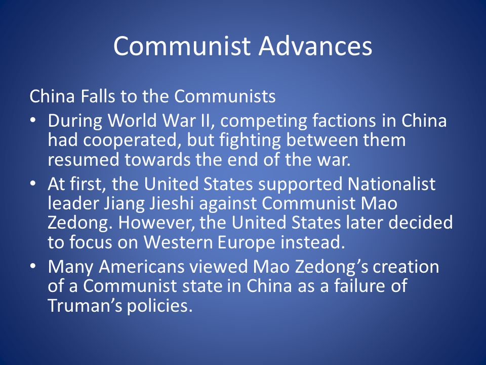 Communist Advances China Falls to the Communists