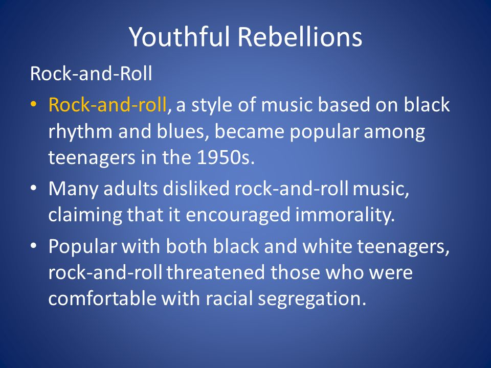 Youthful Rebellions Rock-and-Roll