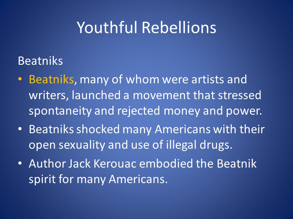 Youthful Rebellions Beatniks