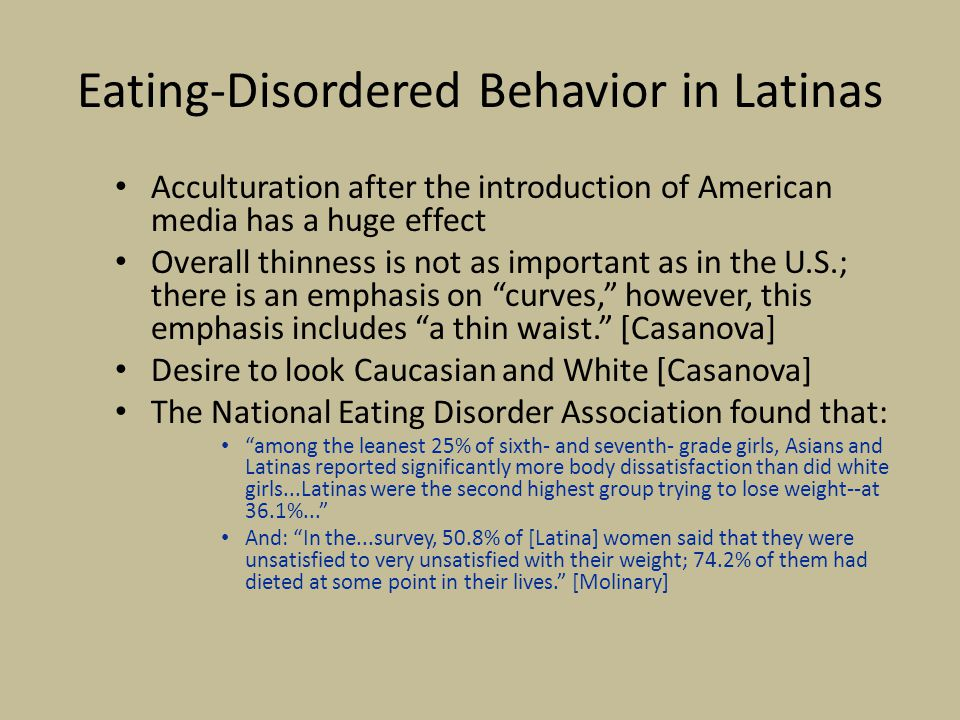 Eating-Disordered Behavior in Latinas