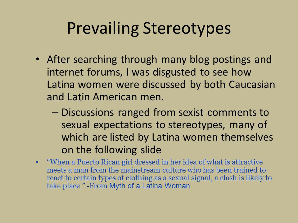 Prevailing Stereotypes