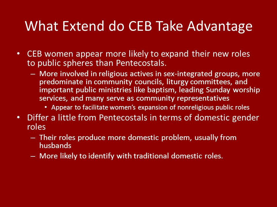 What Extend do CEB Take Advantage