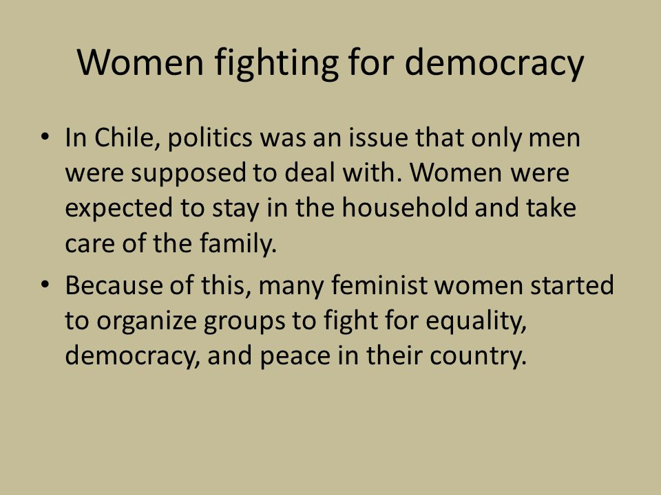 Women fighting for democracy