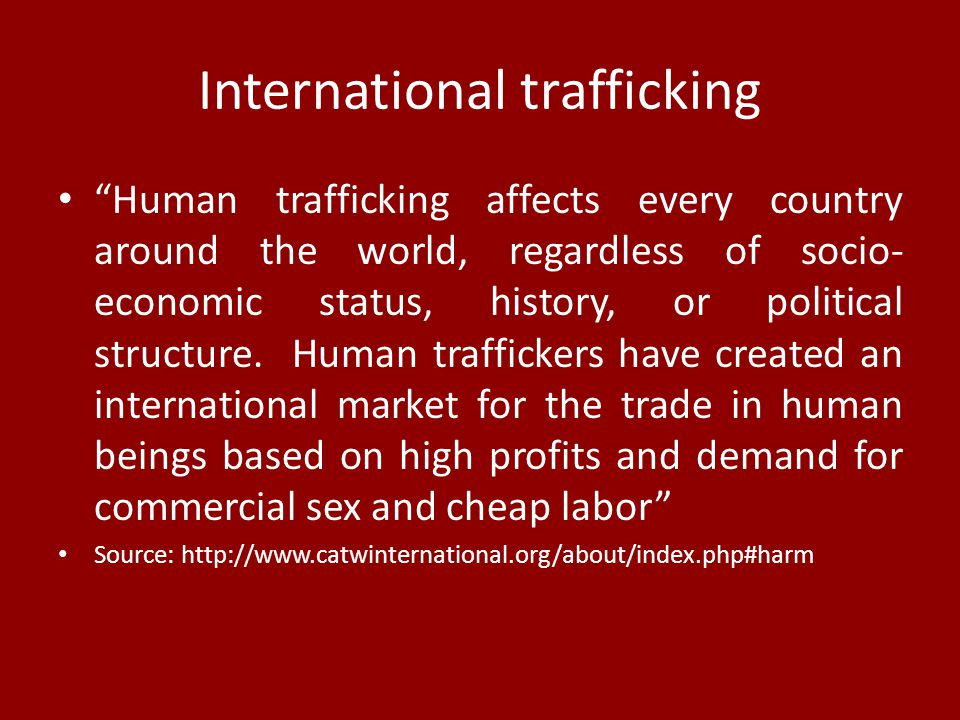 International trafficking