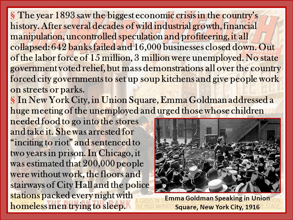Emma Goldman Speaking in Union Square, New York City, 1916