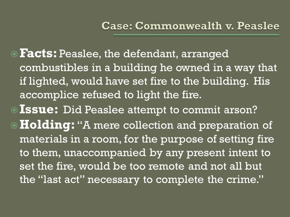 Case: Commonwealth v. Peaslee