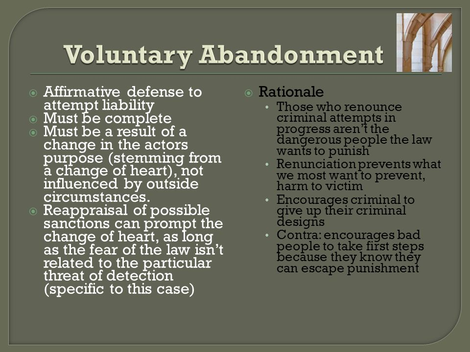 Voluntary Abandonment