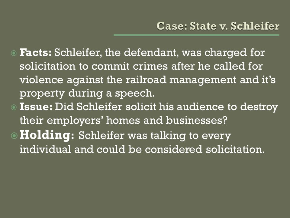 Case: State v. Schleifer