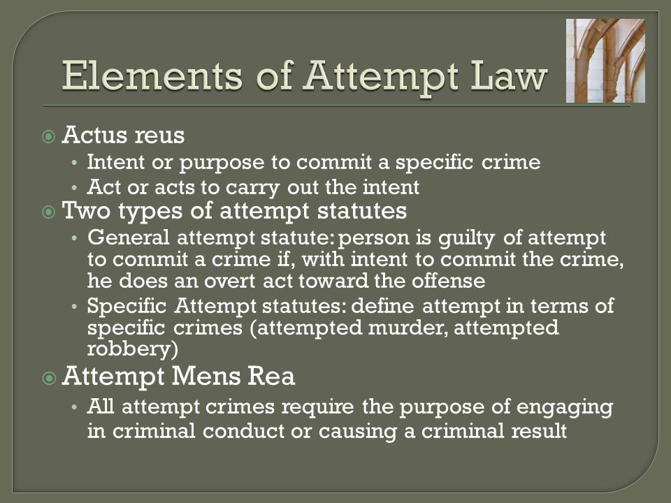Elements of Attempt Law