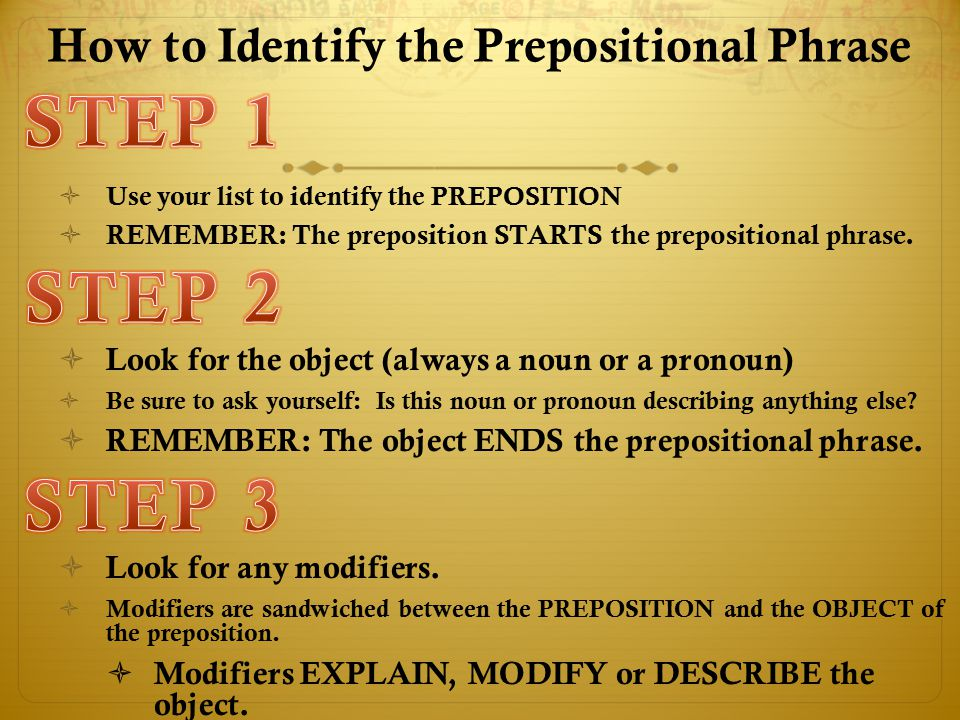 How to Identify the Prepositional Phrase
