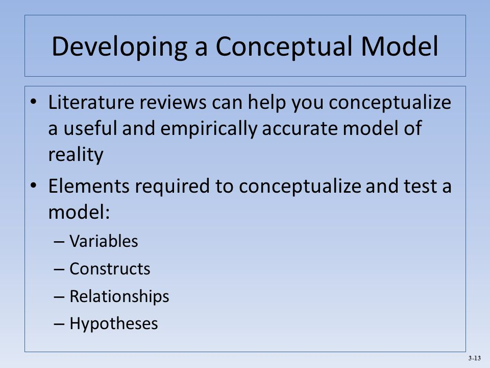 Developing a Conceptual Model