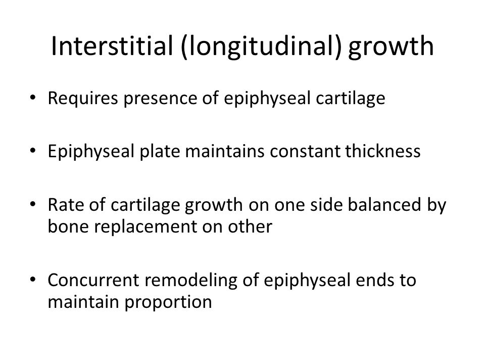 Interstitial (longitudinal) growth