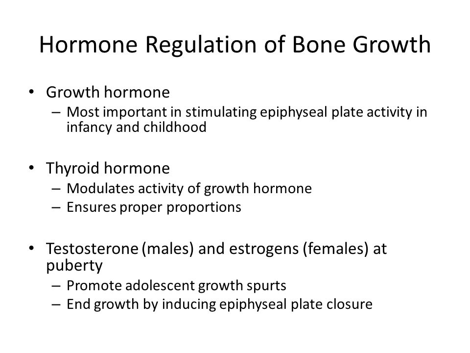 Hormone Regulation of Bone Growth