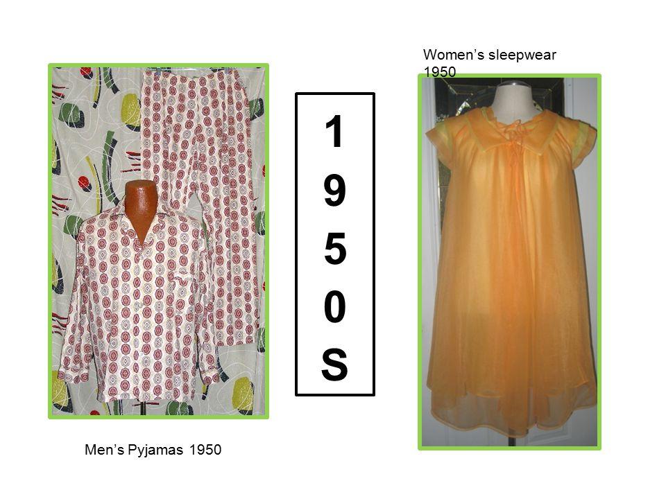 Women's sleepwear 1950 1950S Men's Pyjamas 1950