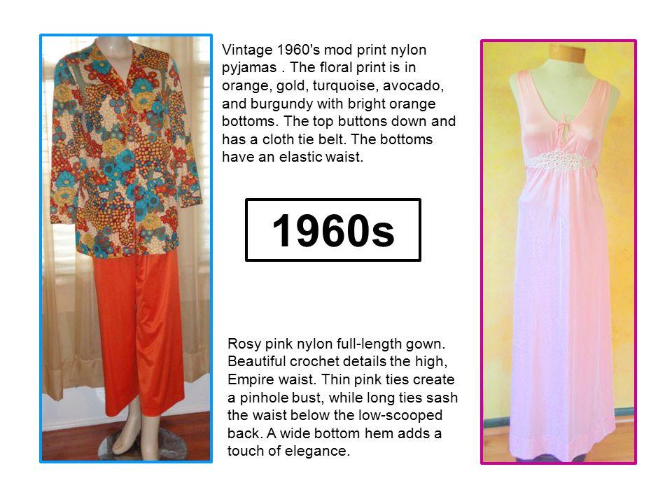 Vintage 1960 s mod print nylon pyjamas