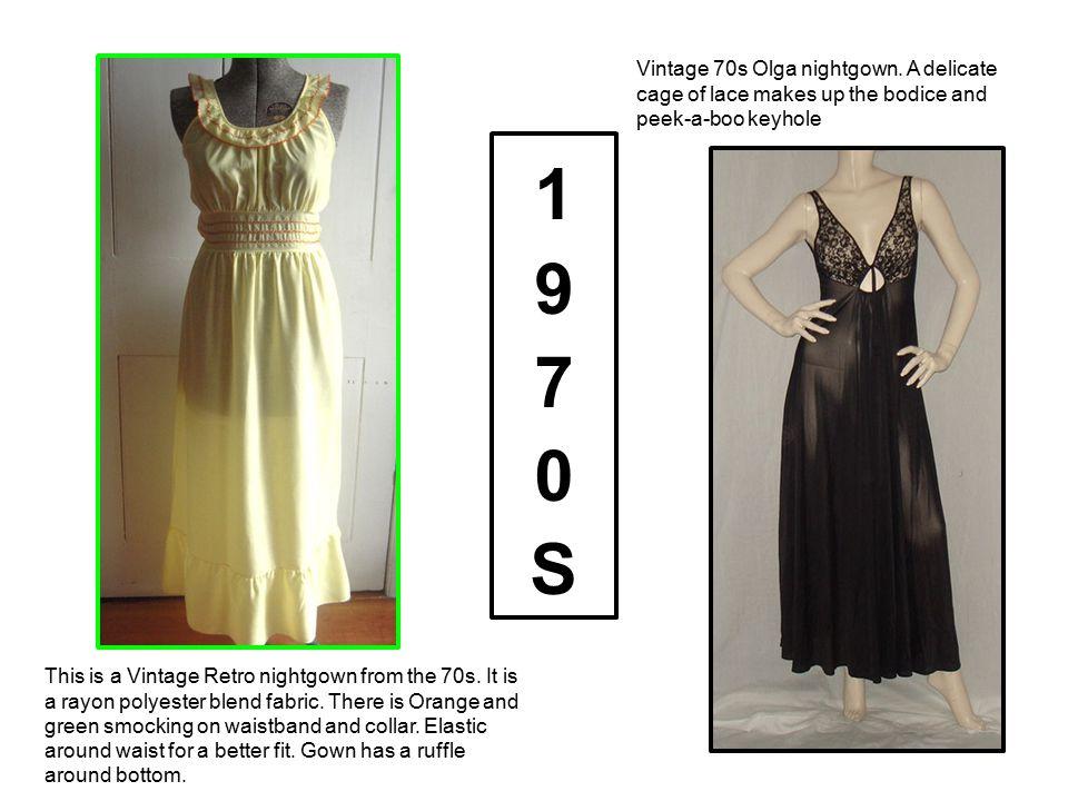 Vintage 70s Olga nightgown
