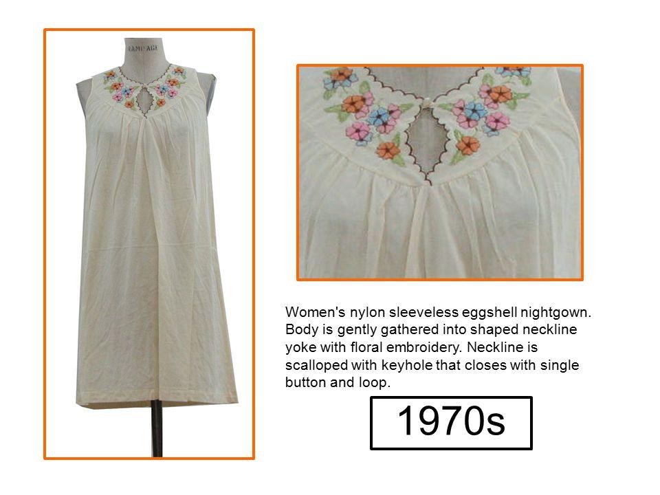 Women s nylon sleeveless eggshell nightgown