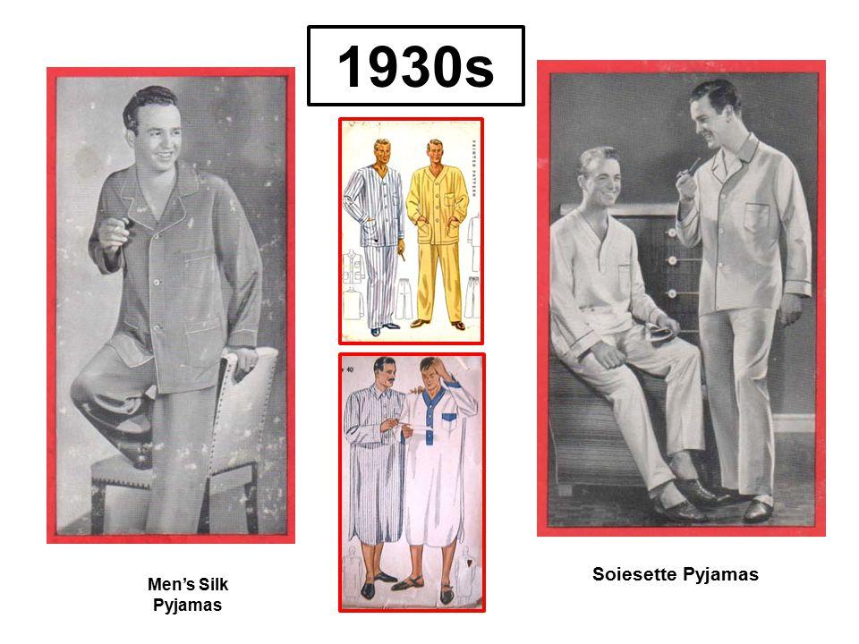 1930s Soiesette Pyjamas Men's Silk Pyjamas