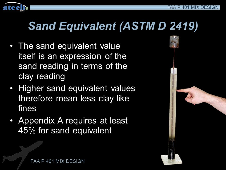 Sand Equivalent (ASTM D 2419)
